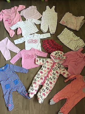 Bundle Of Baby Girls Clothes 0-3 Months 3-6 Months 6-9 Months 9-12 Months