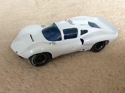 Strombecker Chaparral 2D body, new, with MRRC Chaparral chassis, also new