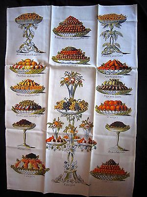 Vintage Linen Tea Dish Towel Cakes Desserts  Wedding