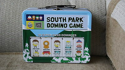 South Park Super-Sized Domino Game w/ Tin Lunchbox 2005 Sababa Toys