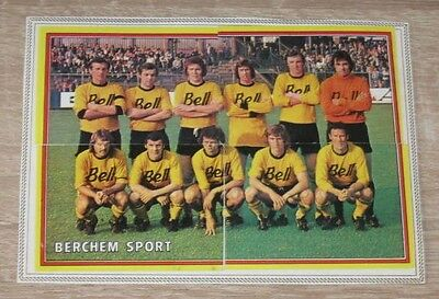 "Lot 4 Images Stickers PANINI ""BERCHEM SPORT"" Belgium Football Voetbal 1975"