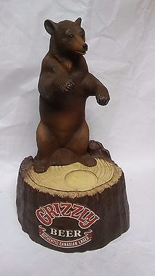Vintage Grizzly beer advertising bear Statue sign figure display