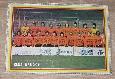 "Lot 4 Images Stickers PANINI ""CLUB BRUGGE"" Belgium Football Voetbal 1975"