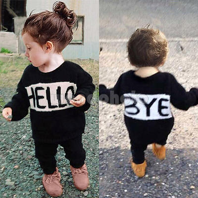 2pcs Toddler Infant Kids Baby Girls Clothes T-shirt Tops+Pants Outfits Set 90