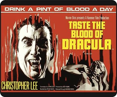 Hammer Films Christopher Lee Taste The Blood Of Dracula Movie Poster Mousemat