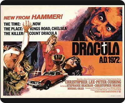 Hammer Films Christopher Lee Dracula AD 1972 Colour Movie Poster Mousemat
