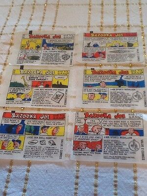 Bazooka Joe Bubble Gum Wrappers Comic Strip ~6 Piece Lot *75 Series* Horizontal2