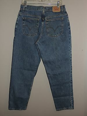 Womens-Levi's-Sz-14-M-550-Classic-Relaxed-Tapered-Leg-Jeans-Med-Wash-Denim