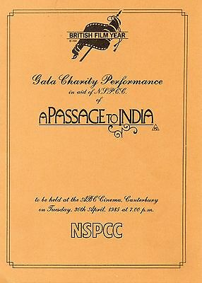 'a Passage To India' Charity Performance Souvenir Brochure