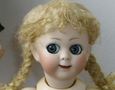 29cm  GERMAN ANTIQUE REPRODUCTION CUTE HAPPY  GOOGLY  UNDRESSED DOLL
