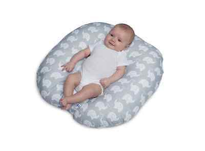 Lounger Boppy Newborn Elephant Love Gray Infant Baby Handle Soft Support New
