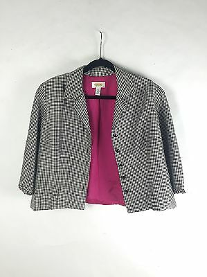 VINTAGE checked Jacket Blazer Silk 50s 80s Sale
