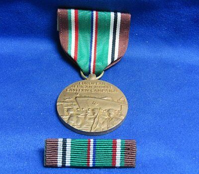 WWII Navy EAME European Campaign Medal and Ribbons Lot Of 2 In Original Box