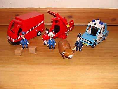 Postman Pat delivery van, police car and helicopter