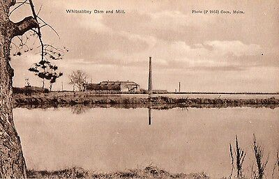WHITEABBEY DAM & MILL ANTRIM IRELAND POSTCARD by COON for H. QUIERY NEWSAGENT