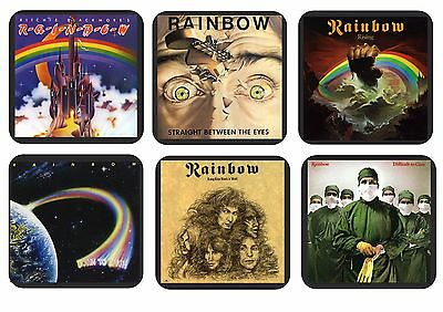 Ritchie Blackmore's Rainbow Set of 6 Wooden Coasters - CHOOSE YOUR OWN