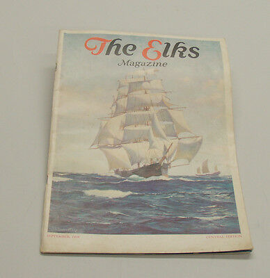 Vintage 1934 The Elks Magazine, Central Edition.  Pictures of Gable, Crawford,