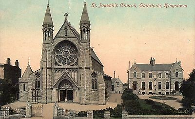 St. Joseph's Church Glasthule Kingstown Dublin Ireland Valentines Postcard 58082