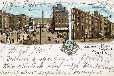 Hammam Hotel Sackville St Dublin Ireland Early Vintage Postcard Undivided Back