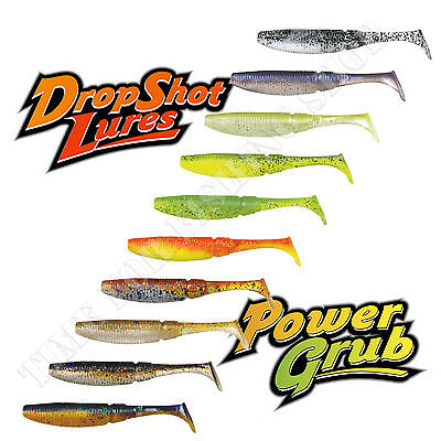 Soft Rubber Lures 5cm 2'' Drop Shot Bait Jig Head Perch Pike Fishing Shad