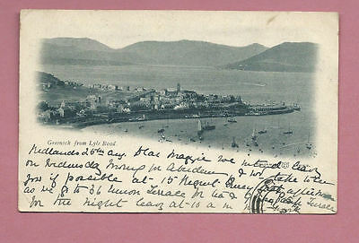 1903 Postcard - Greenock From Lyle Road