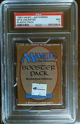 MTG - Magic the Gathering - Rare New & Sealed Unlimited Booster Pack - PSA 7 NM