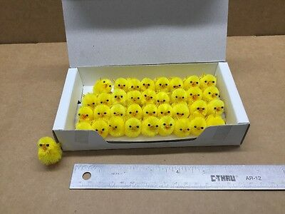 36 Tiny Yellow Chicks - Soooo Soft And Cute - Cake Decorations & Art Projects