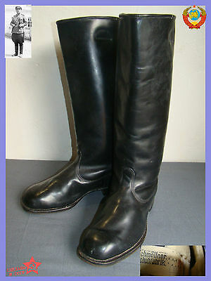NEW Sz.41 Very RARE Chrome Leather Army Officers Boots Germany reparation USSR
