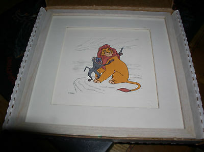 Disney Lion King Mufasa  Rafiki Monkey LE Framed Art