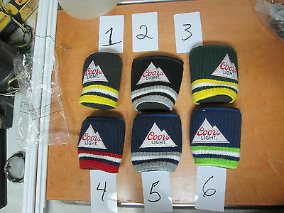 ONE Coors Light NHL Knitted Koozies fan Rare ONE Molson Canadian PROMO