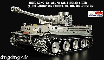 Heng Long 1/8 German Tiger Complete Metal Tank BB Smoking Sounding UK