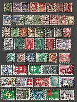 Stamp Collection Helvitia Switzerland.early Onward.