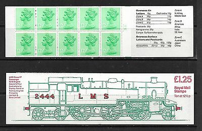 1983 Fk6 £1.25 Booklet Lms 4P Tank Engine Right Selvedge Cylinder B1 Complete
