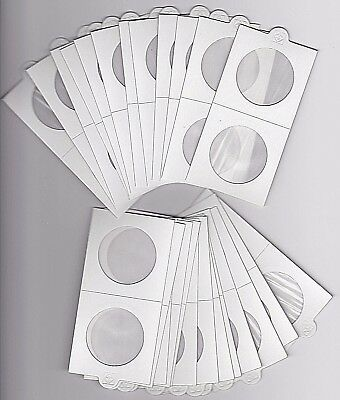 """LIGHTHOUSE 35mm SELF ADHESIVE 2""""x 2"""" COIN HOLDERS x 25 - SUIT PENNY or 50 CENT"""