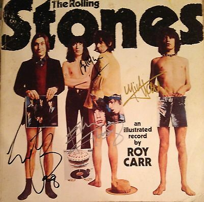 Rolling Stones Steel Wheels Tour Book Autographed By 5 (Jagger Richards etc)