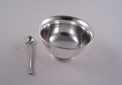Currier & Roby Sterling Silver Miniature Bowl & Spoon Cereal Childrens Cute