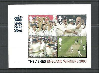 Qe2 2005 Ashes Win Miniature Sheet Ms2573 Never Hinged Mint