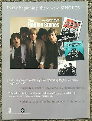 THE ROLLING STONES - SINGLES 2004 full page press ad poster