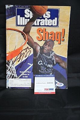 Shaquille O'Neal signed Sports Illustrated autographed PSA AC40385