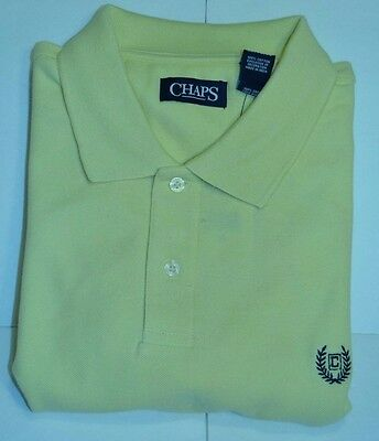 Chaps, NWT, Yellow  S/S XL 100% Cotton
