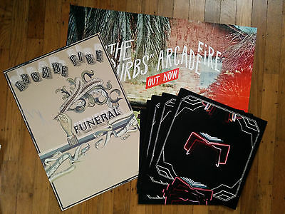 Arcade Fire Promo Poster Lot - Funeral, Neon Bible, and The Suburbs