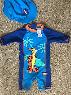 Boys Disney UV Swimsuit All In One with matching hat 3-6