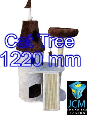 Cat Activity Toy Tree Scratching Deluxe Cat Post Condo Furniture House Kitten