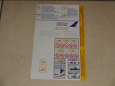 EGYPTAIR Safety card Airbus A330