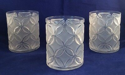 RARE Imperial Glass Sortijas De Oro Two Tone Frosted Clear Double Old Fashioned
