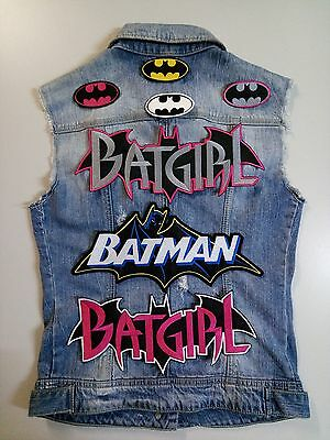 High Quality Embroidery Sew-On Patch Batman Batgirl Choose Style & Quantity