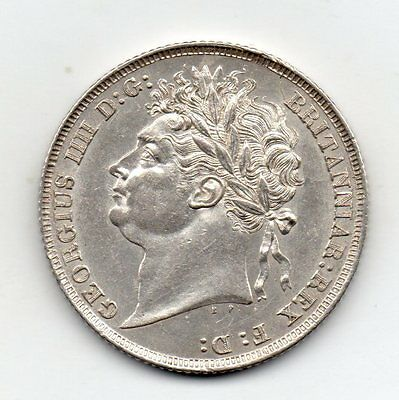 1824 Shilling, George Iv Laureate Head