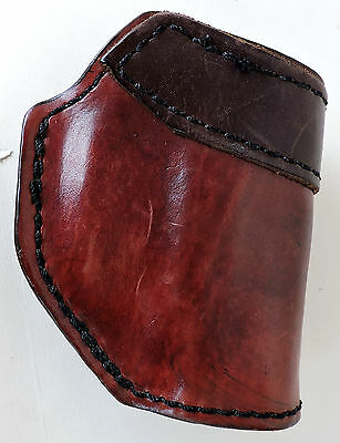 Holster for Small Revolver in Brown Leather
