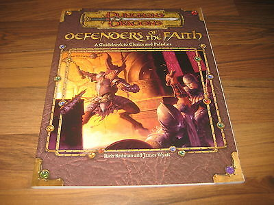 D&D 3.0 / 3.5 Defenders of the Faith A Guidebook to Clerics and Paladins WotC