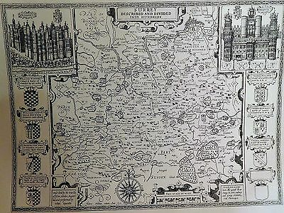 1611 Antique Map Of Surrey - John Speed - Reproduction